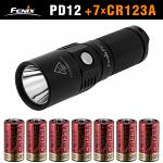 Набор Fenix PD12 + батарейки CR123A 7 штук!