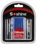 Аккумулятор Soshine 18650 LiFePO4 1800 мАч, защищенный, 1 шт.