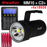 Набор Niwalker Nova MM15 + Fenix ARE-C2+ + Panasonic 18650x4