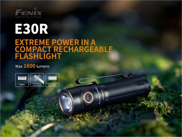 Фонарь Fenix E30R (LUMINUS SST40, ANSI 1600 лм, 18650/CR123A)