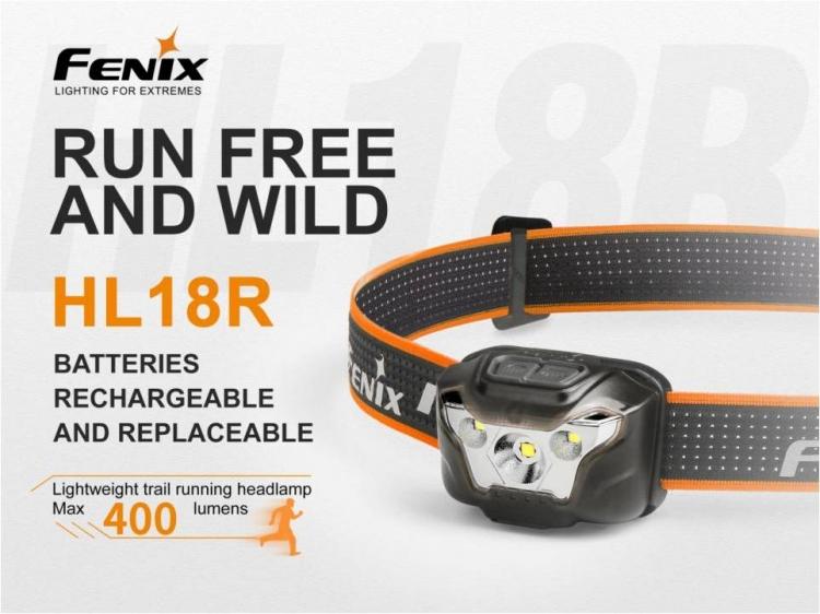 Fenix HL18R (XP-G3, 400 лм, Li-Po АКБ/AAA)