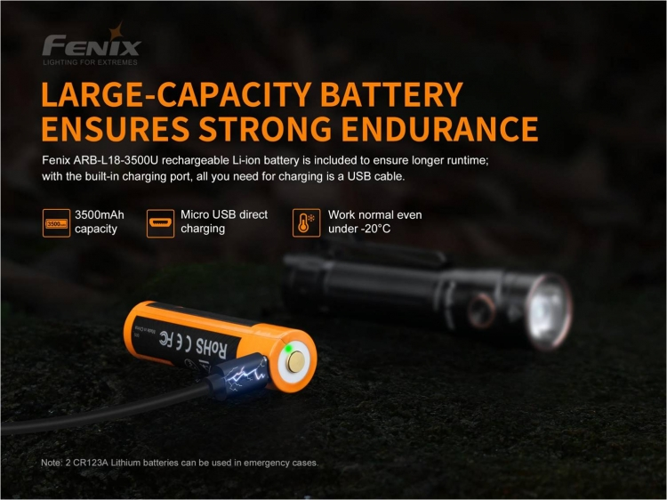Fenix LD30 с АКБ в комплекте  (1600 лм, 18650)
