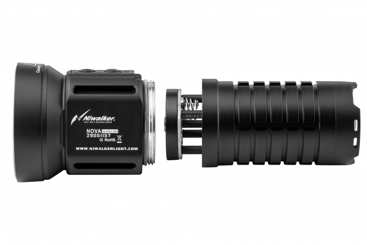 Фонарь Niwalker Nova MM18III  + подарок зарядка Nitecore SC2 (2*XHP70+2*XHP35, 12000 лм)